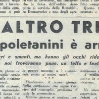 """""""Un altro treno di napoletanini è arrivato"""" [""""La Verità"""", 15 febbraio 1947]"""