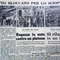 Il Resto del Carlino-Forlì, 15 settembre 1972, p. 6- articolo sullo sciopero generale proclamato a Forlì in solidarietà coi lavoratori della Mangelli, 14 settembre 1972