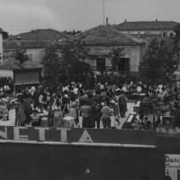 """Seconda metà anni '50. Viserba. In estate si ballava all'esterno del Dancing """"Sirenetta"""""""
