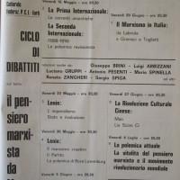 """Il Forlivese, 10 maggio 1969, p. 2- locandina del ciclo di dibattiti su """"Il Pensiero marxista da Marx a oggi"""", maggio 1969"""