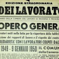 Indetto lo sciopero generale per il 9 gennaio 1950 [La voce dei lavoratori, 5 gennaio 1950]