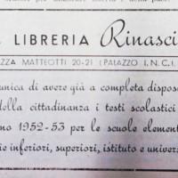 Pubblicità della Libreria Rinascita su «La verità» [La Verità, 4 ottobre 1952]