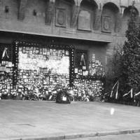 Il sacrario nel 1946 quando viene Conferita la medaglia d'oro a Bologna