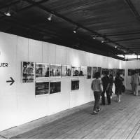 22 giugno-1 luglio 1984. Rimini-Miramare. Festa Nazionale de L'Unità al mare. La mostra fotografica di Gian Butturini dedicata ai funerali di Enrico Berlinguer