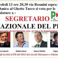 13 novembre 2013. Primarie per la elezione del Segretario nazionale del PD a Ghetto Turco