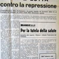 Il Forlivese, 25 ottobre 1970, p.1- articolo sulla vertenza Becchi del 1970, autunno 1970