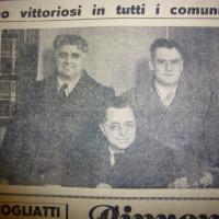 Da sinistra Dozza, Togliatti e Colombi