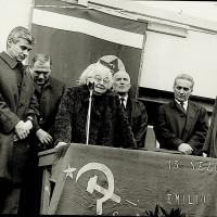 Bice Ligabue parla alla manifestazione per il 45° anniversario della fondazione del Partito Comunista Italiano, presso Mulini Nuovi.  [ISMO, AFPCMO]