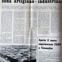 Il Forlivese, 10 agosto 1974, p. 10- articolo relativo all'azione della Giunta Satanassi per la creazione di una zona industriale attrezzata