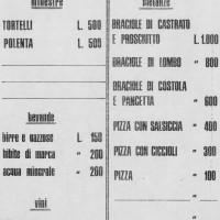 Festa de l'Unità, listino prezzi anni settanta