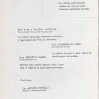 """Centro Gramsci, Ferrara, copertina della dispensa sul seminario """"La riforma dell'economia italiana nel contesto della Comunità Economica Europea"""", tenutosi a Ferrara il 17 settembre 1977"""