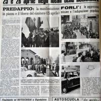L'Unità, 29 aprile 1971, p. 2- articolo relativo alle dimostrazioni antifasciste a Forlì e Predappio del 25 e 28 aprile 1971