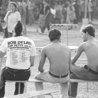 1987, il pubblico in attesa del concerto di Bob Dylan [ISMO, AFPCMO]