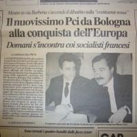 Occhetto e Maurizio Zani alla Bolognina