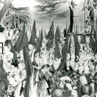 """Mostra di Guttuso ai Bagni Ducali, festa de """"L'Unità"""", 1980"""