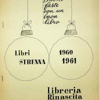 Consigli di lettura della libreria Rinascita anno 1960-1961 [ISMO, APCMO]