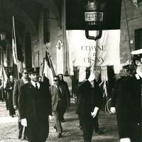 Portale Resistenzamappe.it- Il Sindaco di Cesena Leopoldo Lucchi commemora l'anniversario della Liberazione della città, anni '70