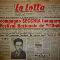 Pietro Secchia a Bologna per il festival dell'Unità