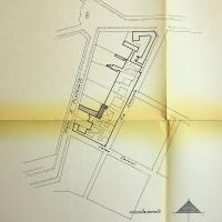 Mappa del 1955 relativa alla costruzione dell'edificio [ISMO, AFPCMO]