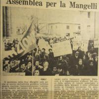L'Unità Emilia Romagna, 16 gennaio 1972, p. 9 -articolo su una assemblea indetta dall'Amministrazione comunale in Municipio in merito allo stato della vertenza Mangelli, 16 gennaio 1972