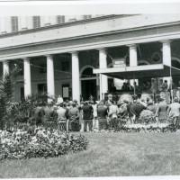 Comizio del partito socialista presso il teatro Valli, in occasione delle elezioni del 18 aprile 1948