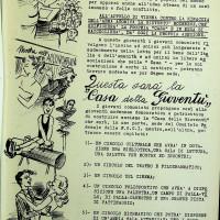 Opuscolo sulla campagna di costruzione della Casa del giovane, 1955 [ISMO, AFPCMO]
