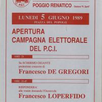Volantino della sezione R. Santi, 1989