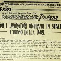 Numero straordinario de «Il Faro» in occasione della morte di Stalin, 9 marzo 1953  [ISMO, Archivio CGIL]
