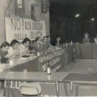 Riunione sindacale della FULTA durante la vertenza del gruppo Bloch, 1978