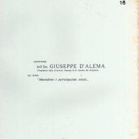 """Centro Gramsci, Ferrara, copertina della dispensa sulla conferenza dell'on. Giuseppe D'Alema sul tema """"Montedison e partecipazioni statali"""", tenutasi a Ferrara il 4 giugno 1977"""