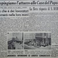 """Articolo de """"La Verità"""" sulla fiera risposta del popolo di San Damaso  [La verità, 25 settembre 1954]"""