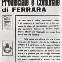 Volantino, 6 dicembre 1958 (da Processo all'Eridania, Documentario a cura di Renato Siiti, Editori Riuniti, 1970)