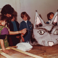 Primi anni '80. Torre Pedrera. Negli spazi della Casa del Popolo erano stati organizzati dei laboratori per bambini