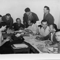 La redazione de «Il Faro», anni Cinquanta  [ISMO, Archivio CGIL]