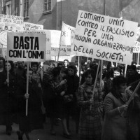 Manifestazione 24 aprile 1970 per scuole e asili nido