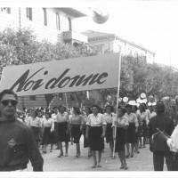 Modena, festa provinciale dell'Unità, 1947. Sfilata della rivista «Noi donne» [ISMO, AFPCMO]