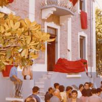 12 giugno 1971. Rimini, Via Valturio. La facciata delle nuova sede della Federazione Comunista il giorno dell'inaugurazione
