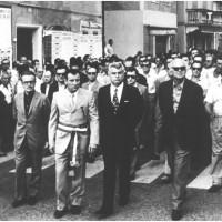 Campogalliano, 5 agosto 1971. Corteo funebre per l'omicidio di Cattani. [ISMO, AFPCMO]