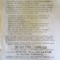 """Archivio PCI Forlì, presso ISTORECO FC, Serie """"Commissione fabbriche"""", b. 1, Fasc. 1.- volantino relativo ad una pubblica iniziativa del gruppo consiliare comunista in merito alla costituzione di una zona industriale attrezzata, s.d."""