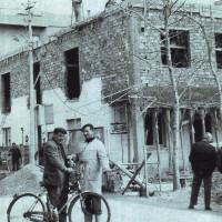 Febbraio 1966. Rimini, Circolo Di Vittorio. Lavori per la sopraelevazione di un piano