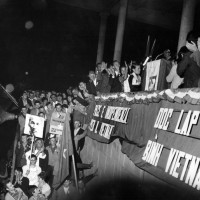 Delegazione di donne vietnamite a Ravenna, manifestazione per la pace in Vietnam, Ippodromo Darsena, 17 luglio 1968