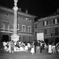 Presidio piazza XX settembre in difesa della legge 194, per una gestione femminile della legge e per i consultori. 1978