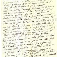 Ricordo del 9 gennaio 1950, manoscritto Gina Borellini