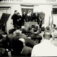 Bice Ligabue parla alla manifestazione per il 45° anniversario della fondazione del Partito Comunista Italiano, presso Mulini Nuovi, veduta ampia.  [ISMO, AFPCMO]