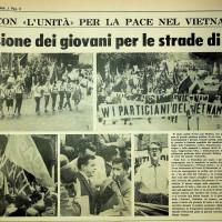 Manifestazione di apertura della festa de l'Unità del 1966: la FGCI in Piazza Grande  [L'unità, 5 settembre 1966]