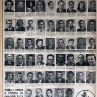 """Pagina de """"La Nuova scintilla"""" con i candidati per le elezioni amministrative del 1952"""