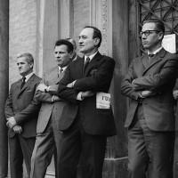 Ernesto Cattani, con l'unità in tasca, fine anni Sessanta. [ISMO, AFPCMO]