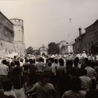 Fondo Fotografico Michele Minisci-comizio per l'Arrigoni in piazza del Popolo, giugno 1971
