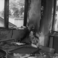 2 agosto 1970. Riccione, Casa del Popolo. La sede del PCI dopo l'attacco incendiario fascista