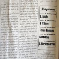 """Il Forlivese, 10 ottobre 1969, p.6- articolo di giornale che annuncia la rappresentazione di """"Mistero Buffo"""" di Dario Fo al Teatro Romagna"""